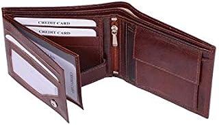 Genuine Leather Luxury Bifold Mens Wallet Brown Credit Card Holder Slim Purse