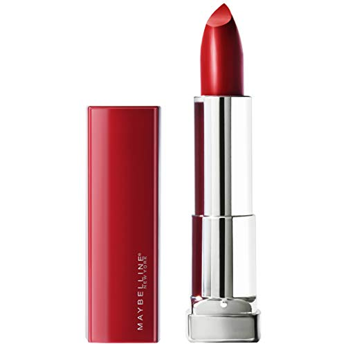 Maybelline New York Color Sensational Made for All Lipstick, Ruby For Me, Satin Red Lipstick