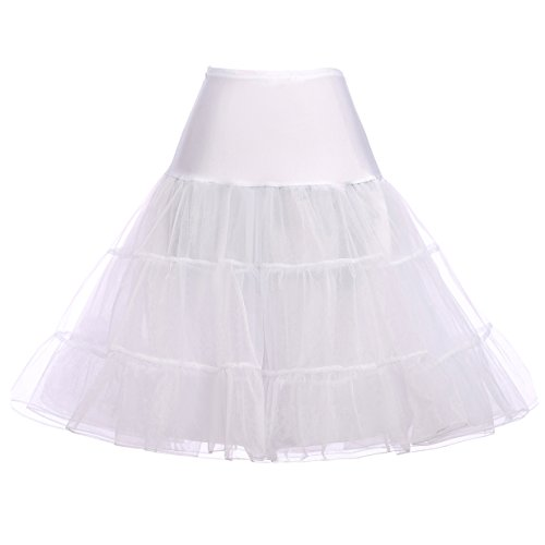 Kate Kasin Reifrock Unterrock Petticoat Fuer Kleid Abendkleid Brautkleid Weiss S KK631-2