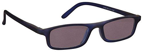Die Lesebrille Unternehmen Mattes Marineblau Leicht Komfortables Sonnen-Leser UV400 Herren Damen Federscharniere S17-3 +2,00