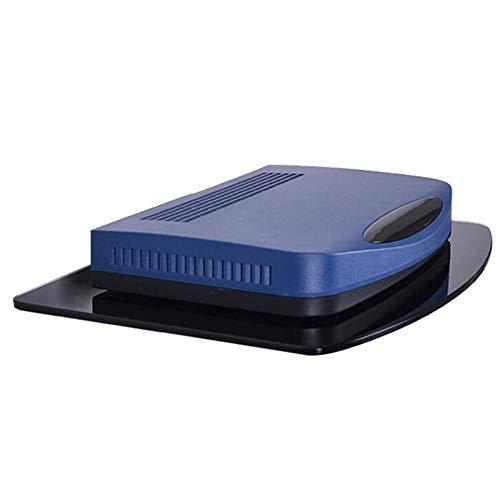 JCNFA enkele kast voor compacte glascomponenten, voor dvd-speler, blu-ray-speler, kabelbox, satelliet, draadloze router en accessoires 11.81 * 8.66in zwart