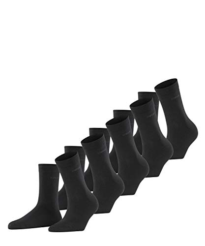 ESPRIT Damen Solid 5-Pack W SO Socken, Blickdicht, Schwarz (Black 3000), 36-41 (5er Pack)