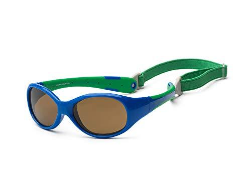 Gafas de sol para koolsun Baby Flex Joven 3–6años   Royal & Green   100% protección UV   con desmontable Diadema   Optical Clas 1, cat. 3