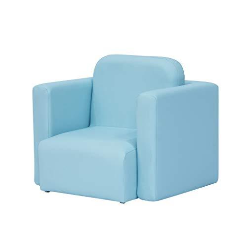 MWY Sessel Multifunktion Kindersofa Sessel Holzrahmen Kortex Kombination Kinderstuhl Mini-Sofa Kleinkindermöbel (Color : Blue)