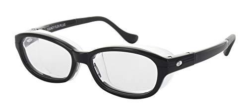 名古屋眼鏡 花粉メガネ 目立たない 曇らない おしゃれ スカッシー フレックスプラス ブラック SS (NEW 曇り止めコート仕様) 8835-01