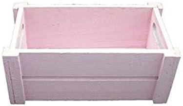 Caja Madera Rosa (Medidas:25x14x10,5cm): Amazon.es: Hogar