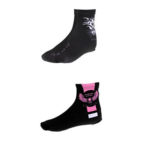 MagiDeal Zapatos de Ciclismo para Hombre y Mujer, Impermeables, Resistentes al Viento, para Botas de Lluvia, 2 Fundas