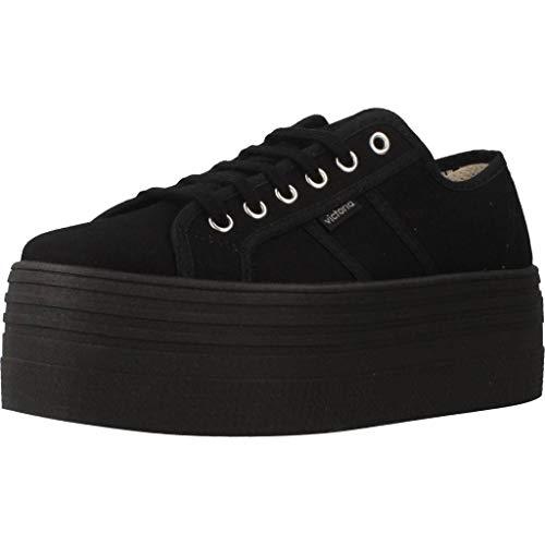 Victoria 105106, Zapatos con Plataforma Negros (41)
