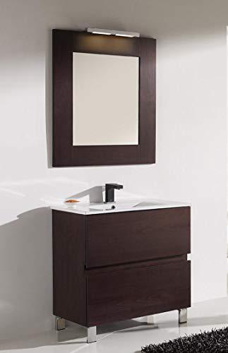 ARTEMA Mueble de baño con Lavabo y Espejo con luz (80 CM).2...
