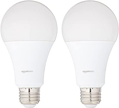 AmazonBasics Non-Dimmable LED Light Bulbs (A19 and A21)
