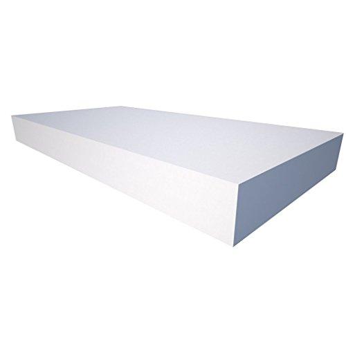 Akustikschaum Plattenabsorber glatt aus Basotect® weiß - 4Stück/1m² - 50cm x 50cm x 2cm