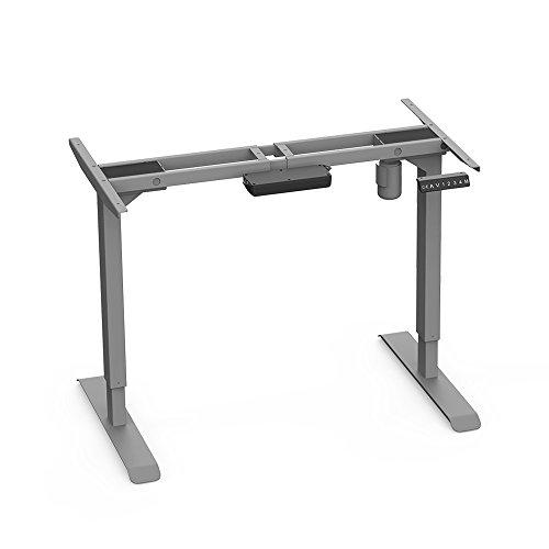 AIMEZO Höhenverstellbarer Schreibtisch Elektrisch höhenverstellbares Tischgestell, 2-Bühne Hebe Beine, Passt für Alle Gängigen Tischplatten. Mit 4 Automatischen Speichertastaturen (Grau)