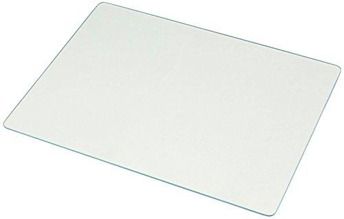 Belca 鍋敷きにもなる 耐熱 強化ガラス製 マルチプレート ランチョンマット 幅40×奥行30×厚さ0.75cm ホワイト KTP-WH4030