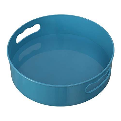 #N/a Botellas de condimento de despensa giratoria bandeja de almacenamiento de cocina Multi-función mostrador de maquillaje titular organizador contenedor - Azul