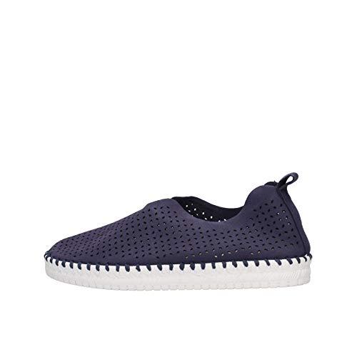 Grunland MATI SC4910 F6 Blu Sneakers Donna Woman Slip on da infilare (Numeric_39)