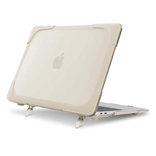 MOSISO Funda Dura Compatible con MacBook Air 13 Pulgadas 2020 2019 2018 Release A2337 M1 A2179 A1932 con Pantalla Retina, Carcasa Rígida de Plástico Resistente con Soporte Plegable,Caqui
