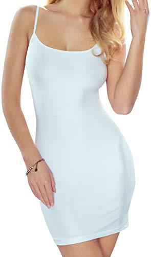 Eldar Bauchweg Unterwäsche Figurformendes Miederkleid Damen Shapewear Kleid Formkleid Formende Kleider Unterkleid (M, Weiß)