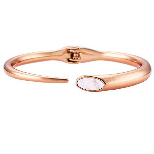 Buckley London Damen Armschmuck Messing rosévergoldet mit Perlmutt Messing Glänzend Perlmutt rosa 430060070