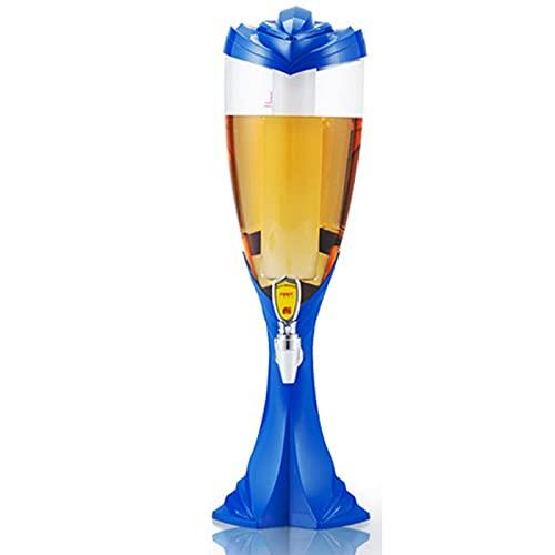 WDDLD Barril Cerveza,Dispensador Cerveza,DiseñO NostáLgico De Bar,Grifo Cerveza para Casa,Barril Cerveza 2 litros para