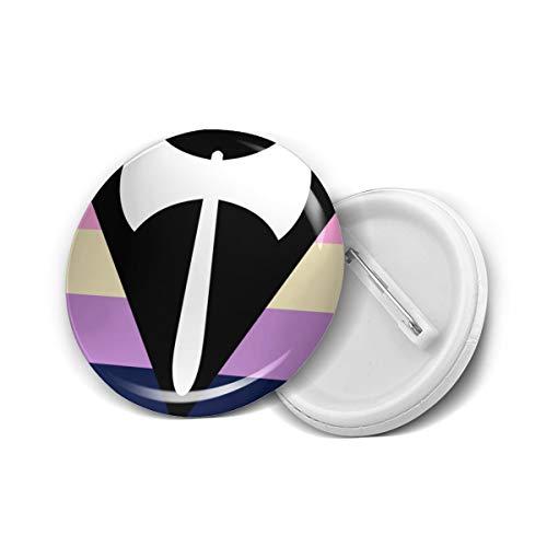 Labrys Lesbian Pride Flag Round Brooch Badge Pins For Women Men Girls T Shirt Bag Backpacks Hat Accessories