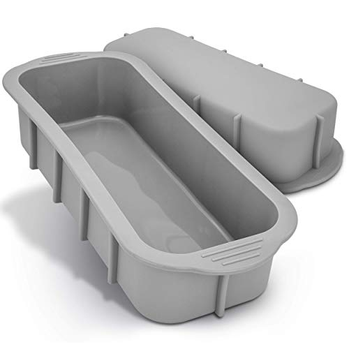 SilikonWerk - Backform rechteckig aus Silikon für 1000g Brot, Kuchenform eckig mit Antihaftwirkung, XXL Kastenform Brotbackform mit 2 Liter Fassungsvermögen, BPA frei und lebensmittelecht, 31x11x7cm