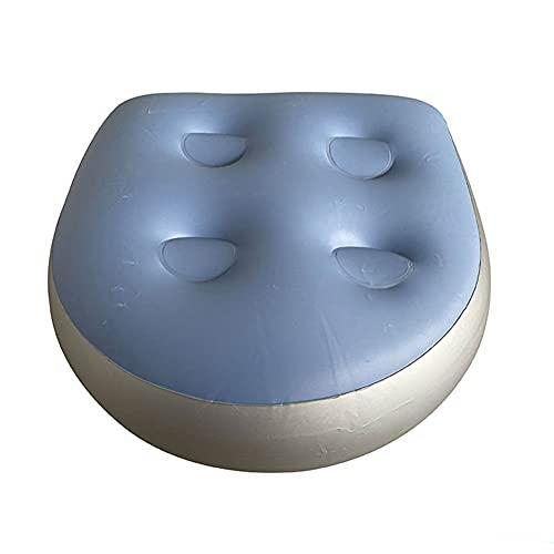 Moligin Inflatable Boat Kissen Sitzmultifunktions Whirlpool Sitzerhöhung Soft-badewanne Spa-Kissen Für Erwachsene Kid Blau