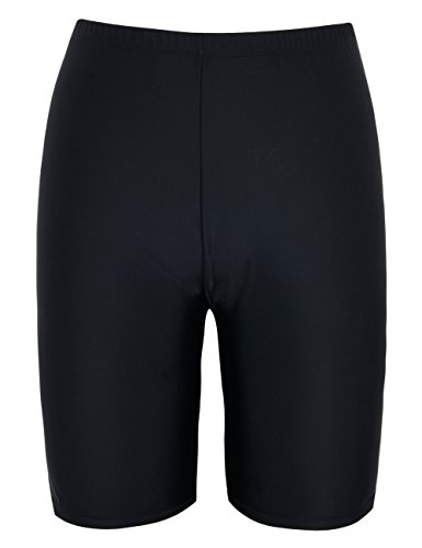 Firpearl Women's UPF50+ Sport Board Shorts Swimsuit Bottom Capris US18 Black