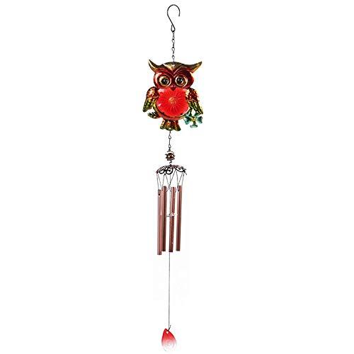 YL-adorn art Wind Chimes, Un Jardin Extérieur Et Intérieur Carillon À Vent avec Natural Apaisants, Creative Red Owl Pipe Wind Chimes Et S Crochets, pour La Décoration De La Maison Cadeaux De Noël