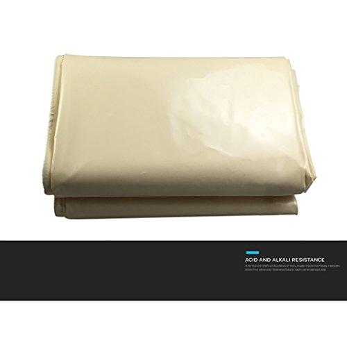 Hyxpb Rijst witte regendoek, hoge sterkte PVC mes doek, waterdichte zonnebrandcrème veroudering dekzeil, auto dekzeil, dikte 0.48mm, 600g/m2, 6 soorten maten om uit te kiezen