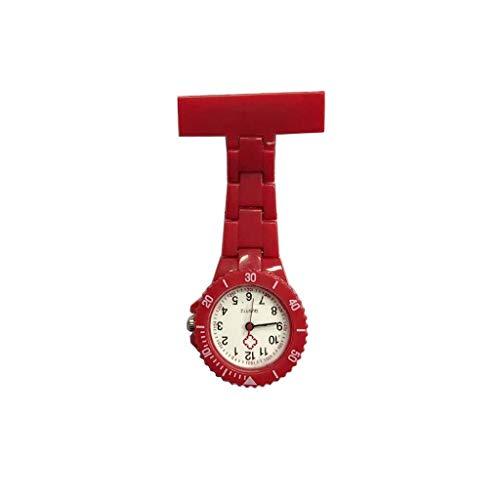 XNdlrb Krankenschwester-Taschen-Uhr-Krankenschwester-Uhr-Quarz-Bewegung Pflegepersonal Brosche-Uhr Clip Art Medical-Taschen-Uhr (Color : B, Size : 8.6 * 2.9cm)