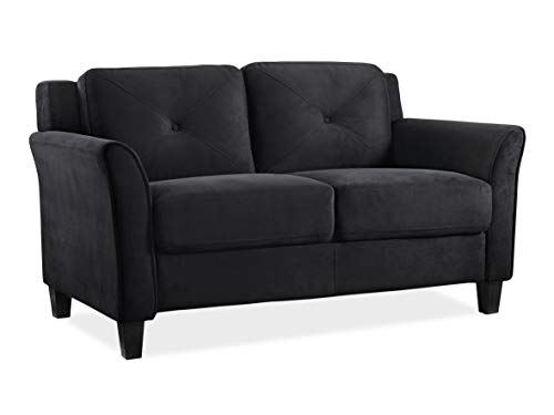 "Lifestyle Solutions Collection Grayson Micro-fabric Loveseat 57.87""x32""x32.68"" Black"