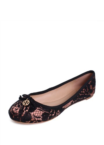 Tory Burch Chelsea Stitched Logo Ballet Flats