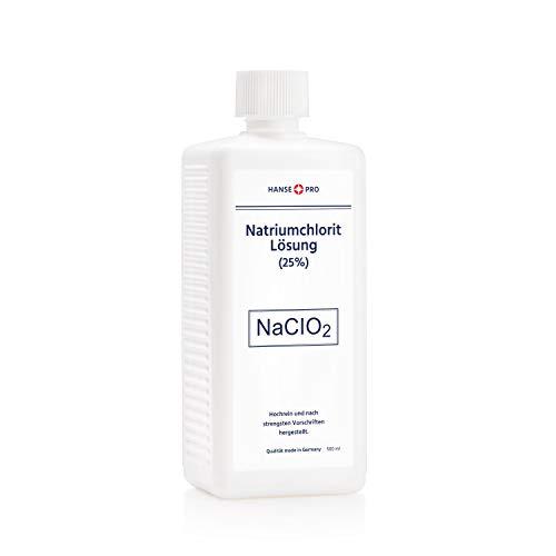 HANSE PRO Natriumchlorit Lösung (25%), 1 x 500 ml, nach Original-Rezeptur, deutsches Qualitätsprodukt