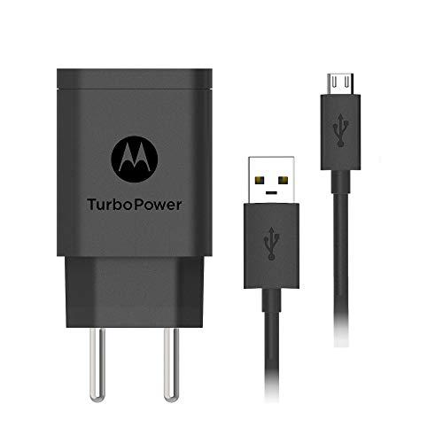 Carregador de Parede Motorola Turbo Power 18W, 100-240V, com Cabo Micro USB, Preto
