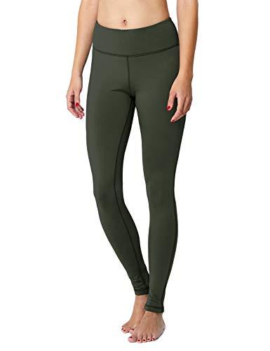 BALEAF Women's Fleece Lined Winter Leggings Thermal Yoga Pants Inner Pocket Army Green Size XS