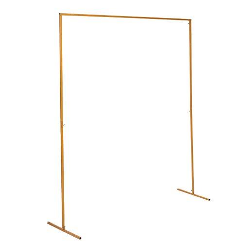 Hochzeit Bogen Tür Hintergrund Schmiedeeisen dekorative Requisiten 2 * 1,5 m Blumenregal Gold