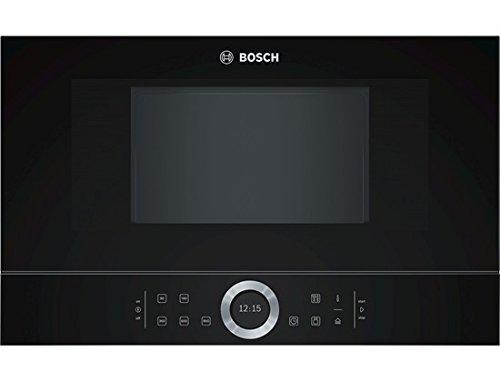 Bosch BFL634GB1 Serie 8 Einbau-Mikrowelle / 900 W / 21 L / Türanschlag Rechts / Schwarz / AutoPilot 7 / automatische Leistungsstufe nach Gewicht