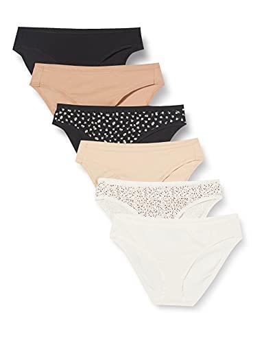 Amazon Essentials Women's Cotton Stretch Bikini Panty, Fall Floral, Medium