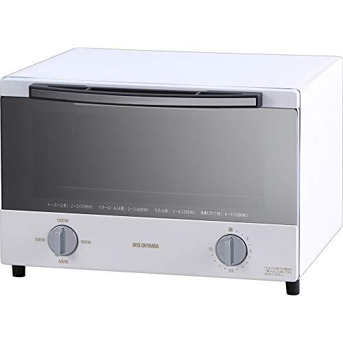 アイリスオーヤマ スチーム オーブントースター 4枚 焼き 温度調節 トレー タイマー機能付 横型 ホワイト SOT-012-W