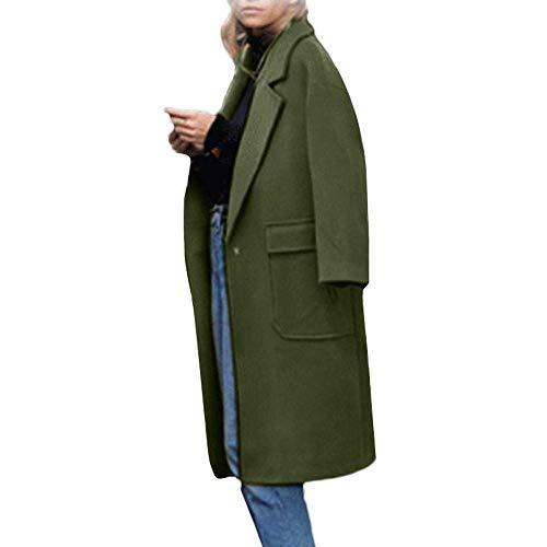 Mantel dames wollen mantel met reverskraag knielange wintermantel eenkleurig Tweed mantel vrouwen modieuze completi elegante wollen mantel grote zakken trenchcoat lange mantel winterjas Coat
