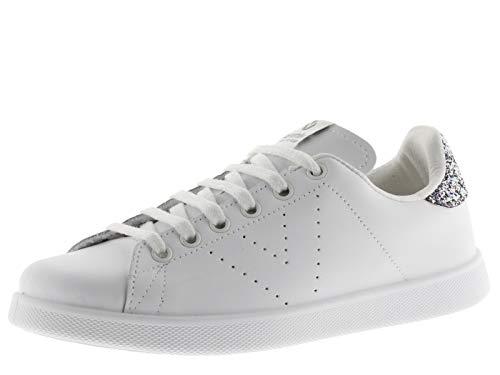 Victoria 1125104-WOMEN Sneaker Tennis Cuir Basses Femme Antracita 40