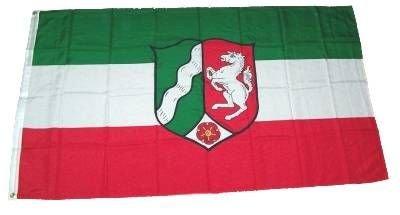 MM Nordrhein-Westfalen Flagge/Fahne, 150 x 90 cm, wetterfest, mehrfarbig, 16198