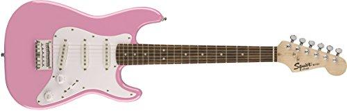 Squier by Fender Mini Stratocaster Beginner Electric Guitar - Indian Laurel Fingerboard - Pink