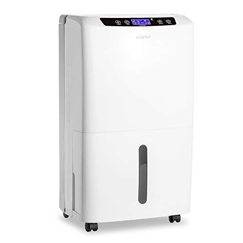 Waykar 2000 Sq. Ft Dehumidifier for Home and Basements,with Auto or Manual Drainage,0.66 Gallon Water Tank Capacity