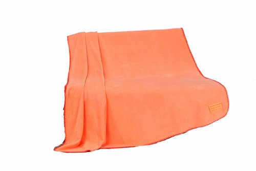 Gözze Wohn- und Kuscheldecke, Naturhaar-Look, 150 x 200 cm, Angora-Feeling, Orange, 40013-36-5020