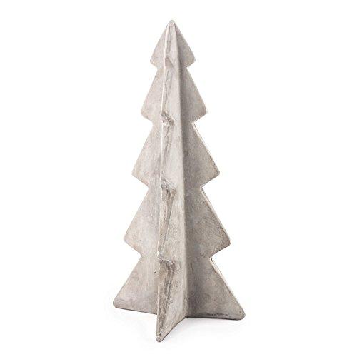 pajoma Wintertanne, Weihnachtsbaum Gr. L aus Zement/Beton, L 17,7 x B 17,4 x H 36,3 cm