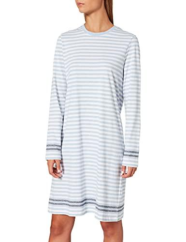 Schiesser Damen Sleepshirt 1/1 Arm, 95cm Nachthemd, hellblau (blau), 42