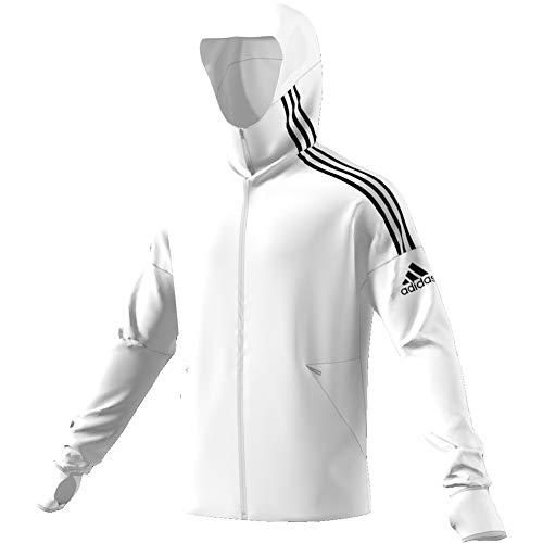 adidas Herren ZNE Hd 3S Kapuzenjacke, White, L