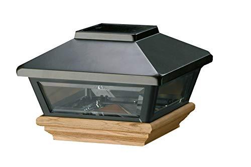 Topline Solar-Pfostenkappe anthrazit-farbend, für Pfosten 9x9 cm