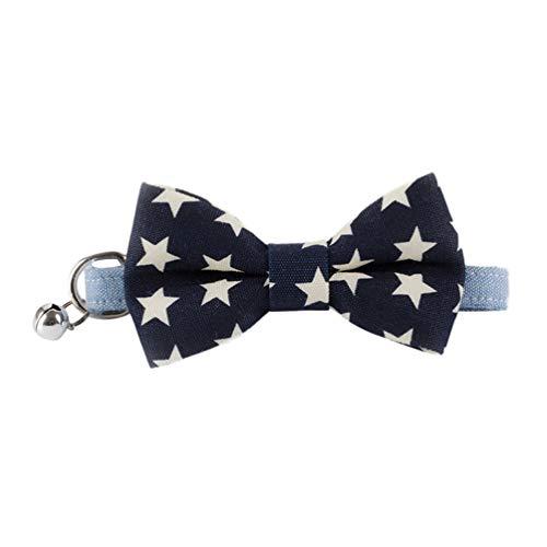 Xinwcang Haustier Hundehalsband und Leine Set Hunde Fliege Kragen Halsbände mit Glocke Hundekrawatte Hochzeit Kragen für Kleine Hunde Als Bild22 S